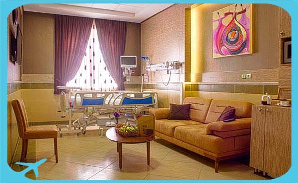 أجنحة مجهزة بأفضل وسائل الراحة للمرضى و مرافقيهم في مشفى جواد الأئمة في مشهد ايران