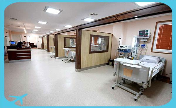 خدمات الإسعاف السريع في مستشفى نيكان في طهران ايران