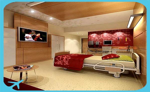 أجنحة فخمة و راقية من أجل راحة المرضى و مرافقيهم في مستشفى نيكان في طهران ايران