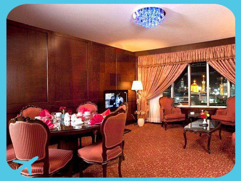 أرقى الخدمات في فندق طوس في مشهد ايران | آريا مدتور للسياحة الطبية
