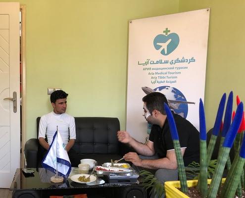زيارة عبد القادر من كابول إلى شركة آريا في طهران