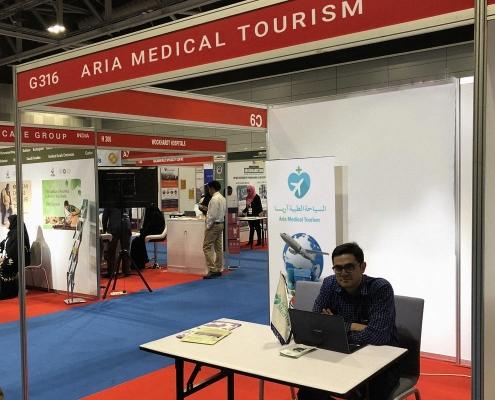 جناح شركة آريا مدتور في مؤتمر ومعرض عمان للسياحة الطبية