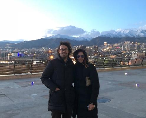 جوليا و لوكا في طهران مع الجبل و الثلج