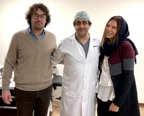 جوليا و لوكا من إيطاليا مع جراح تجميل الانف في طهران