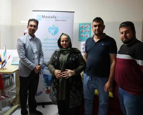 عمار عراقي من أستراليا في ضيافة آريا مدتور لإجراء جراخة تكميم المعدة لزوجته فلوريا في طهران