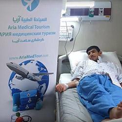 تجربة شاب عراقي مع إزالة الورم في ايران