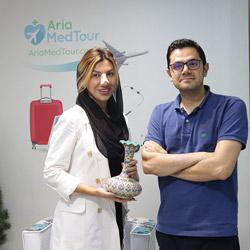 تجربة عملية الانف الترميمية في ايران للسيدة شيلا من رومانيا