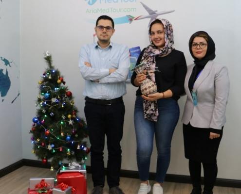 ناديا من اسبانيا في شركة آريا مدتور في طهران