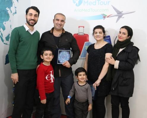 سميرا مع عائلتها في رحلة سياحة علاجية في ايران