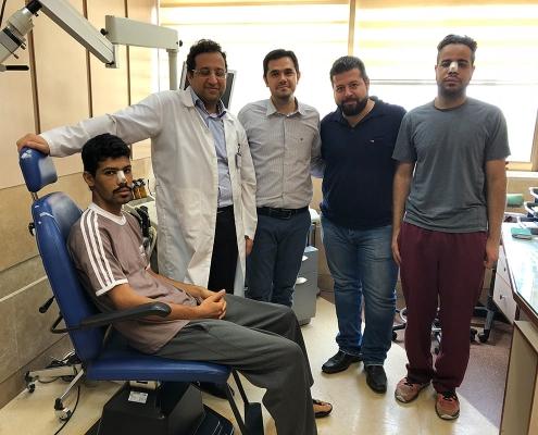 مصعب وهشام من عمان مع الدكتور وطاقم العمل
