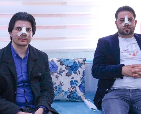 شقيقان عراقيان يجريان عملية الانف في ايران
