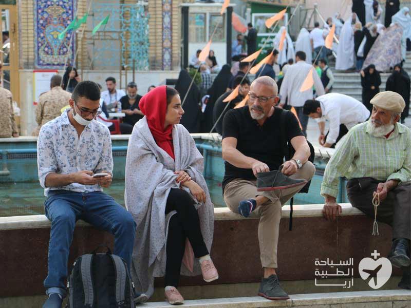 مريض من سويسرا في ايران