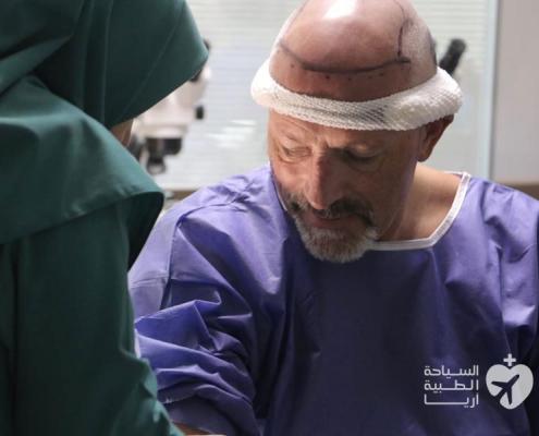 زراعة الشعر في ايران لمريض من سويسرا