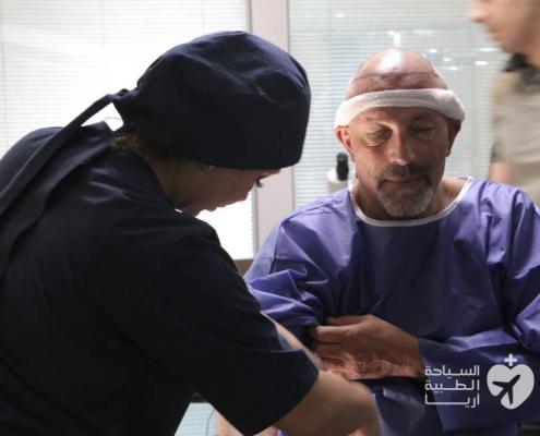 زراعة الشعر في ايران لرجل من سويسرا