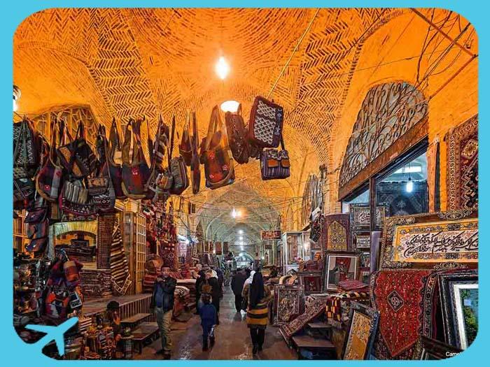 جانب من سوق وكيل في شيراز