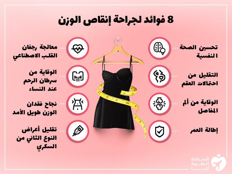 فوائد عملية انقاص الوزن