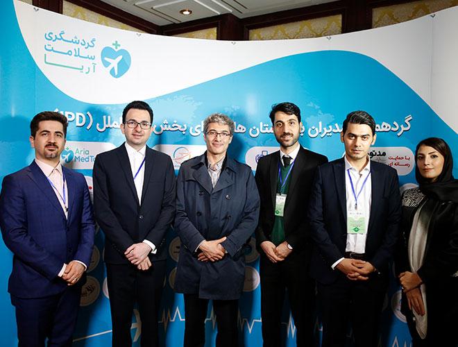 مدراء آريا مدتور مع الدكتور هاشم زاده