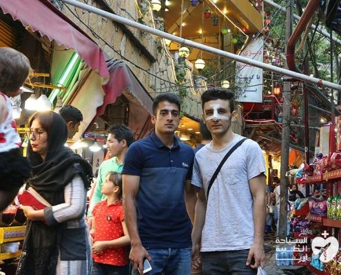 شاب من النمسا يجري تجميل الانف في ايران