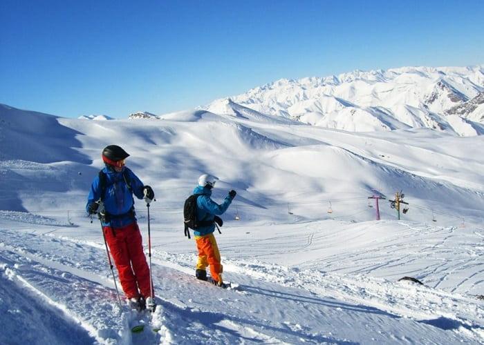 التزلج على الثلج في طهران ايران