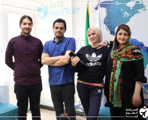 ألينا من روسيا في ايران لإجراء تجميل الانف