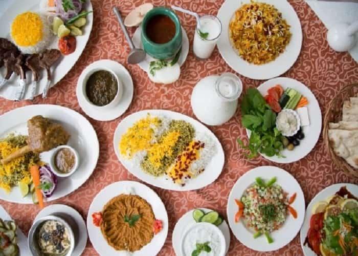 أنواع الطعام في ايران