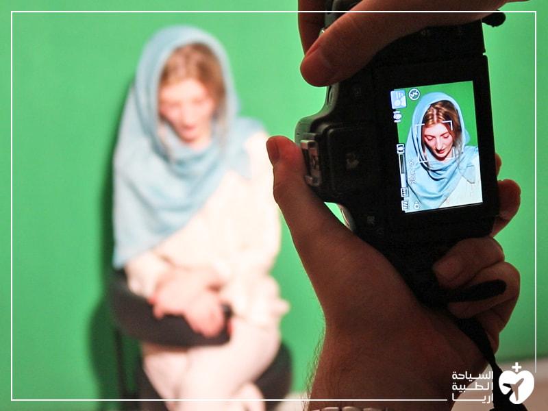 التصوير قبل العملية جزء من الاستعداد لعملية تجميل الانف