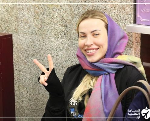 آنا من أوكرانيا قبل ترميم الانف في ايران