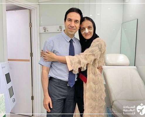 صورة تذكارية مع دكتور تجميل الانف