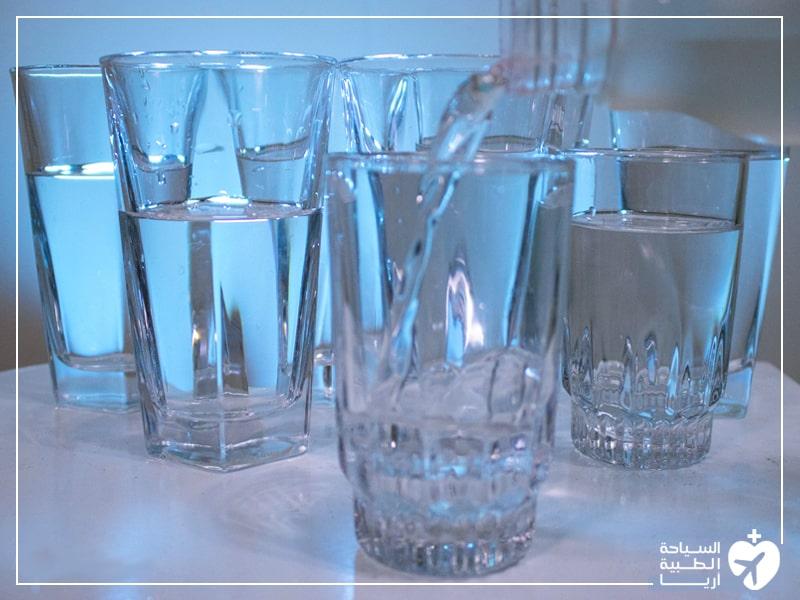 شرب الماء عند الطيران بعد تجميل الانف