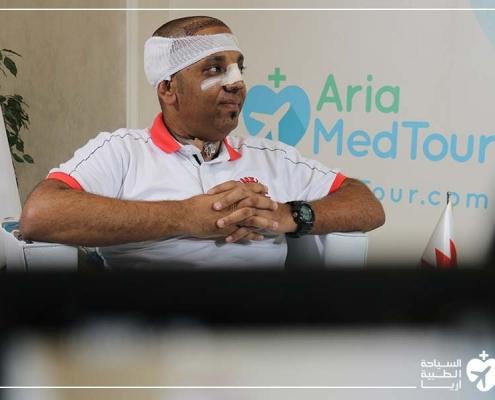 تجربة شاب من عمان مع عملية الانف الترميمية وزراعة الشعر وفينير الاسنان في ايران مع آريا مدتور