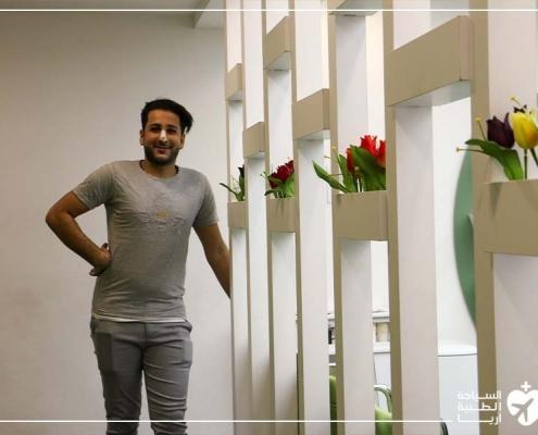 باقر في رحلة سياحة طبية في ايران لإجراء عملية انحراف الوتيرة في ايران