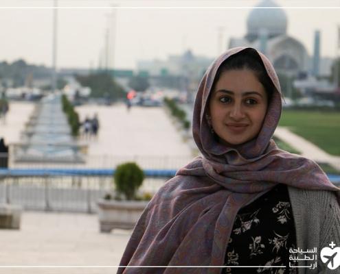مريضة من أستراليا في رحلة إلى ايران لإجراء عملية ترميم الانف