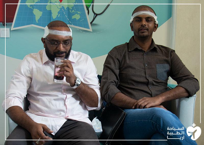 مريضان هنديان في ايران لإجراء زراعة الشعر