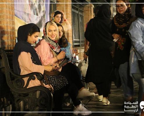 جولة سيسيليا في طهران أثناء رحلة سياحتها العلاجية