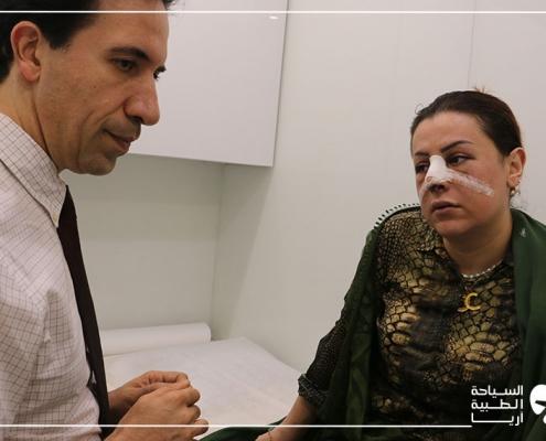 بعد عملية تجميل الانف وانحراف الوتيرة وقلب الشفة في ايران