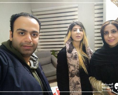 مريضة من ألمانيا في مقر آريا مدتور لتتحدث عن تجربة تجميل الانف في ايران