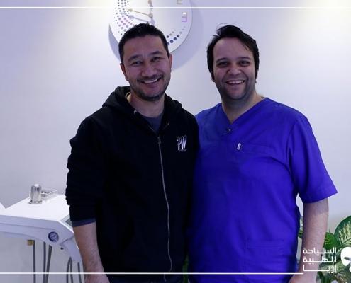 رجل أسترالي مع طبيب أسنانهما في ايران