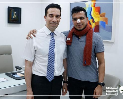 مريض هندي ألماني مع د. عطاريان جراح تجميل الانف في ايران
