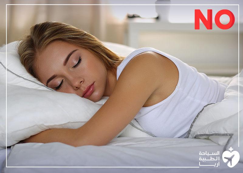 وضعية النوم الخاطئة بعد عملية الانف