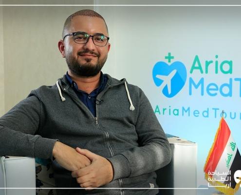 مريض من العراق يتحدث عن تجربة زراعة الشعر في ايران