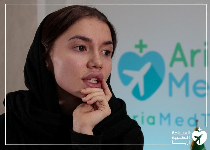 مريضة روسية تتحدث عن تجربتها مع عملية تجميل الانف في ايران