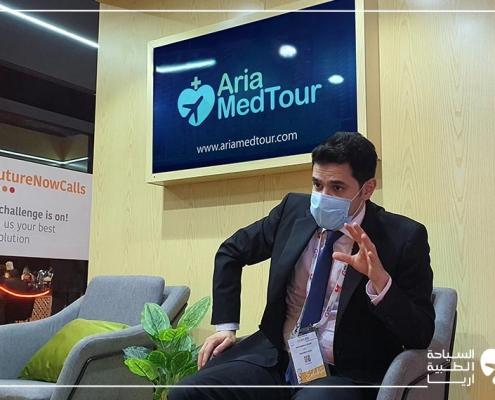 محمد نصري المدير التنفيذي لشركة آريا مدتور في معرض جايتكس دبي الأربعين