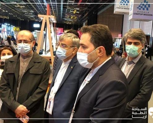 زيارة سفير إيران لدى الإمارات ورئيس الصندوق الرئاسي للابتكار والازدهار إلى جناح آريا مدتور في معرض جايتكس 2020 دبي