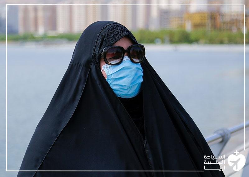 تجربة تجميل الانف في ايران رغم وباء كورونا