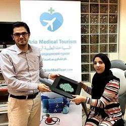 جراحی بینی دختر سوئدی در ایران
