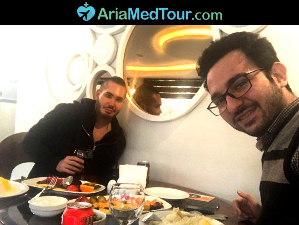 جراحی زیبایی بینی بیمار استرالیایی در ایران
