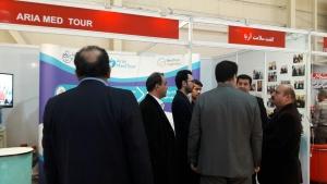 غرفه گشت سلامت آریا در نمایشگاه بین المللی گردشگری و صنایع وابسته تهران