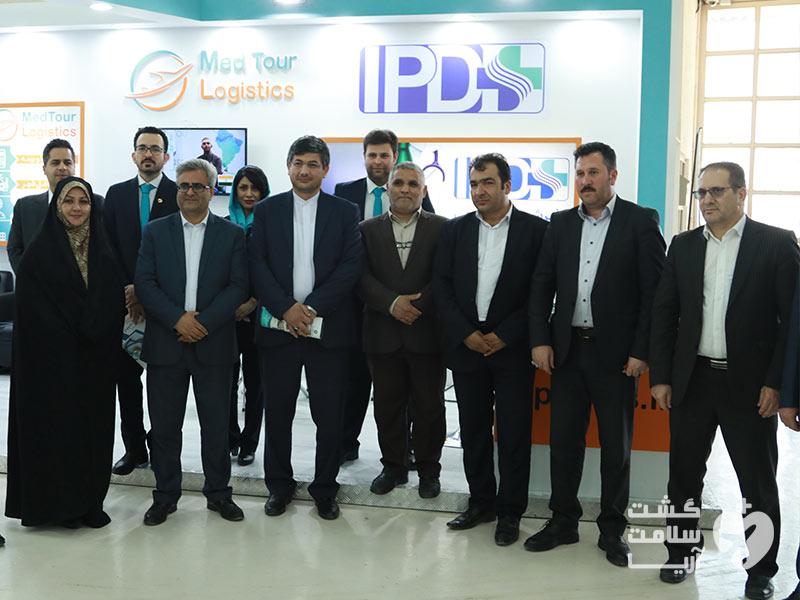 مقامات گردشگری سلامت ایران به همراه اعضای شرکت آریامدتور در رویداد اکو