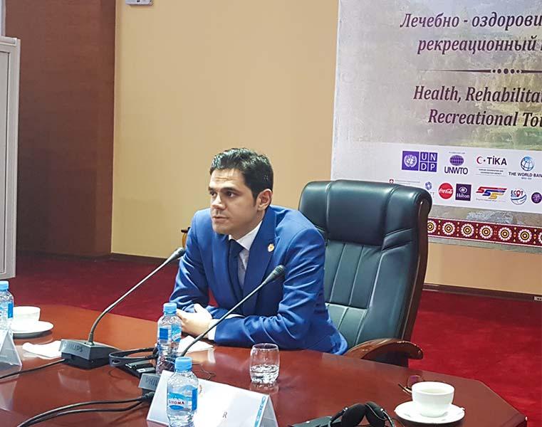 حضور محمد نصری در کنفرانس گردشگری در تاجیکستان - پنل گردشگری سلامت