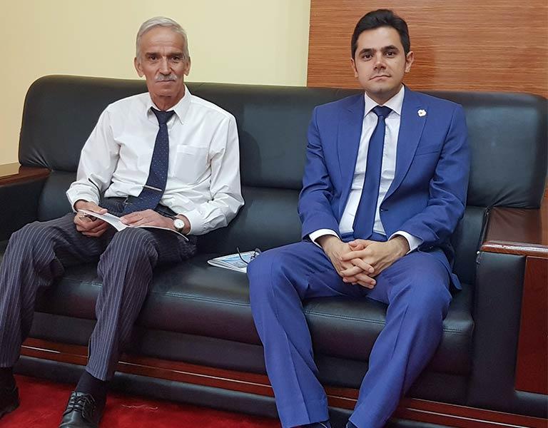 محمد نصری در شهر دوشنبه تاجیکستان در کنفرانس گردشگری